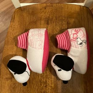 Toddler Girls Snoopy Slippers